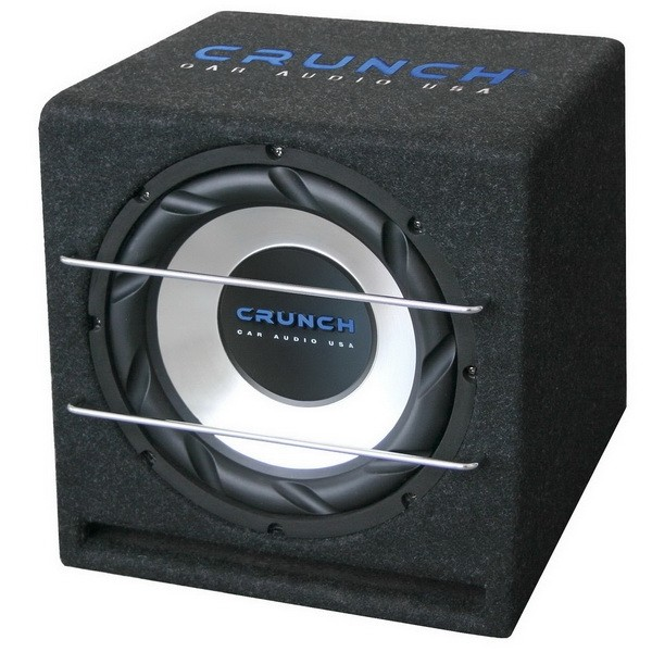 Crunch Subwoofer in kist CRB250 250 Watt RMS